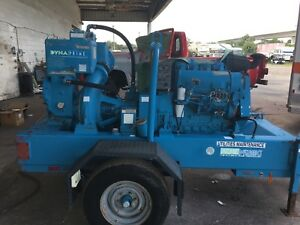 1998 Dynaprime 8 Well Point Pump Equipment Trailer
