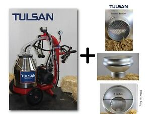 Tulsan Mini Goat Milking Machine Portable Electric Milking System W strainer