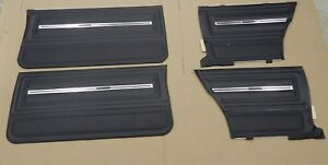 1966 Chevelle Malibu Supersport Pui Front Rear Door Panel Set Black D280 D280c