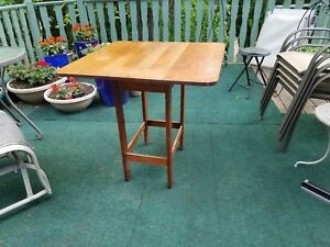 1902 Stickley Brothers Drop Leaf Tea Work Lamp Table Double Marked Original Cond