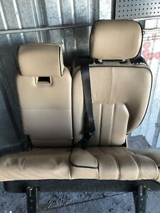 Dk803124 2003 2006 Range Rover Rear Left And Middle Seat Assembly Tan Oem