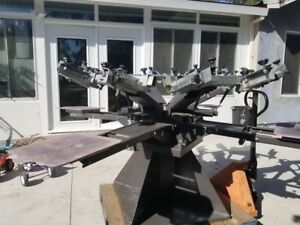 Harco 6 Color 4 Station Screen Printing Press