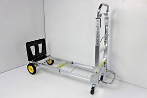 Safco Products 4050 Hide away Convertible Utility Hand Truck Silver