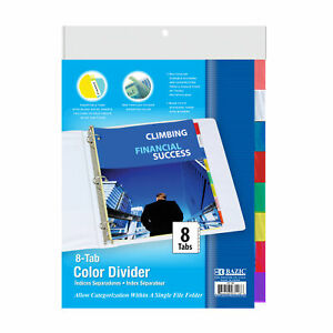 Bazic 3 ring Binder Dividers