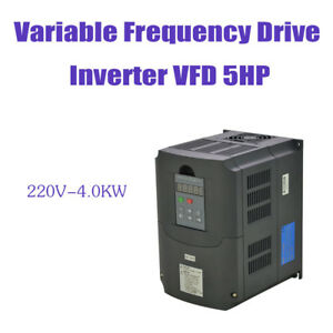 New Vfd Variable Frequency Drive Inverter 4kw 220v 5hp For Cnc