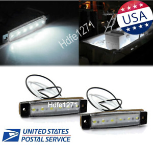 White Marine Led Light Courtesy Utility Strip For Boats 12 Volts Pair