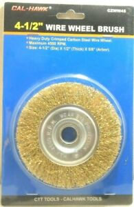 Wire Wheel 4 1 2 Inch X 5 8 1 2 Inch Arbor Crimped Wheel Angle Grinder