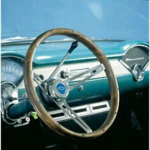 Grant 15 Nostalgia Wood Steering Wheel installation Kit horn Button For Bel Air