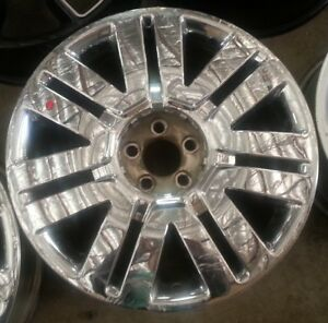 20 Inch 2008 2009 2010 2011 Lincoln Mkx Oem Chrome Clad Wheel Rim 3827 20x7 5 D