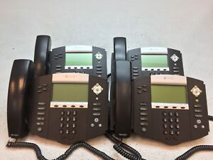 Lot Of 4 Polycom Soundpoint Ip 550 Ip550 2201 12550 001 Phones W stand