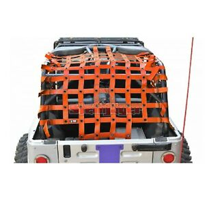 Steinjager J0047379 Orange Premium Cargo Net For Jeep Wrangler Tj Unlimited lj