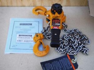 New Harrington Shipyard Hook 3000 Lb 10 Ft Lift Lb015 10 Lever Chain Hoist