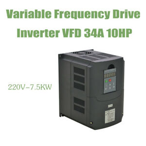 Hot Vfd Variable Frequency Drive Inverter 7 5kw 220v 10hp 34a