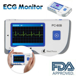 Heal Force Portable Ecg Ekg Handheld Heart Rate Monitor With Lead 50x Electrode