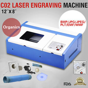 Bn 40w Usb Co2 Laser Engraver Cutter Commercial Engraving Cutting Machine Blue