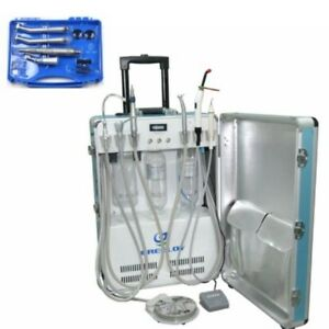Portable Dental Unit With Air Compressor Curing Light Scaler 4h Handpiece