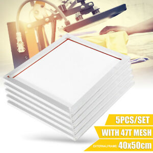 5 Pack 16 X 20 Aluminum Frame With 47t Silk Mesh White Printing Screens Us