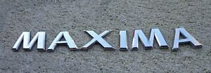 Nissan Maxima Trunk Emblem Letters Badge Decal Logo Oem Factory Genuine Stock