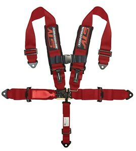 Stv Motorsports Universal Red 5 Point Racing Safety Harness Seat Belt 3