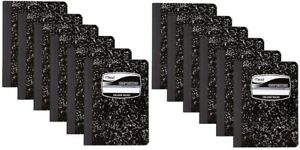 12 Pack of Mead Square Deal Composition Book 100 count College Ruled Black