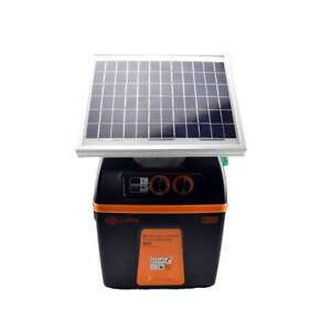 Gallagher B100 Solar Powered Fence Charger Fencer Energizer W Solar Panel
