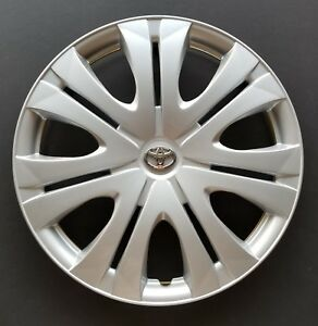 One New Replacement Fits 2009 2010 Toyota Corolla 16 Hubcap Wheel Cover Silver