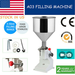 0 17 1 7oz Liquid Paste Manual Filling Machine For Lotion Cosmetic 5 50ml Filler