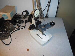 Epoi 47170 Microscope With Starret Dial Indicator