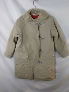 Rare Janesville Tan Duck Womens Firefighter Coat Some Staining Womens Size 14