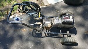 Electric Pressure Washer On 2 Wheel Cart