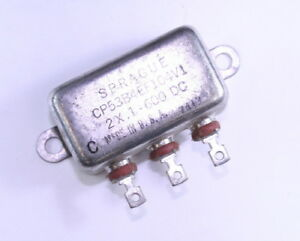 Sprague 2uf X 1uf 600vac Motor Run Capacitor Cp53b4ef104v1