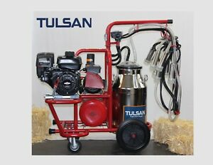 Tulsan Cow Double Milking Machine Portable Electric Or Gasoline Operated