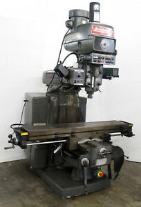 Bridgeport Series 2 Manual Mill W 3 axis Powerfeeds Dro 11 x58 table