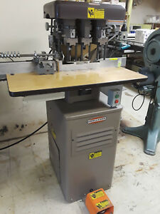 Challenge Eh3a Hydraulic Paper Drill Press 3 spindle Great Condition