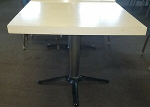 Restaurant Square 36 Inch Table And Base Lot Of 18 Tables