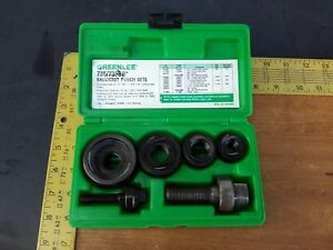 Greenlee Usa Ball Bearing Knockout Punch Set 1 2 3 4 1 1 1 4 No 735bb