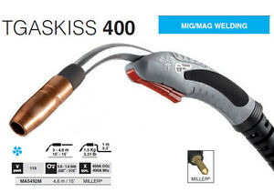 Trafimet Ma5492m Tgaskiss 400 Mig Gun 50 Neck 15 With Miller Connector