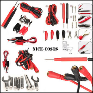 Test Clips Leads Kit Fluke Multimeter Heavy Duty Banana Tester Probe Set 16pcs