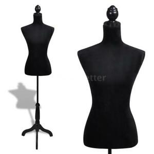 Ladies Bust Display Black Female Mannequin Female Dress Form Z0x7