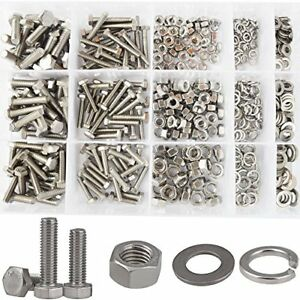 Hex Flat Head Bolts M4 M5 M6 Metric Screws Nuts And Lock Washers Sae Assortment