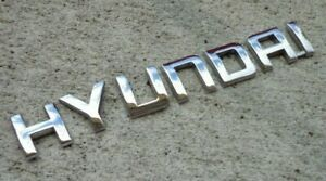 Hyundai Trunk Emblem Letters Badge Accent Sonata Santa Fe Tucson Rear Oem Stock