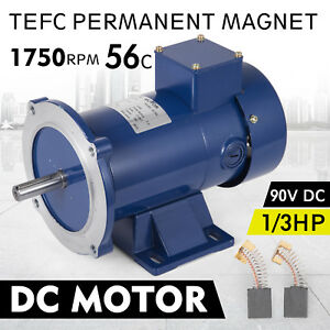 Dc Motor 1 3hp 56c Frame 90v 1750rpm Tefc Magnet Dominate Generally Permanent