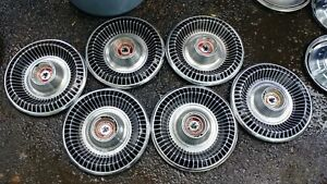 6 Vintage 1965 Buick Wildcat Hubcaps Rims Wheel Covers 15
