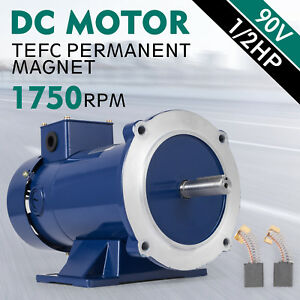 Dc Motor 1 2hp 56c Frame 90v 1750rpm Tefc Magnet Permanent Smooth Durable Ce