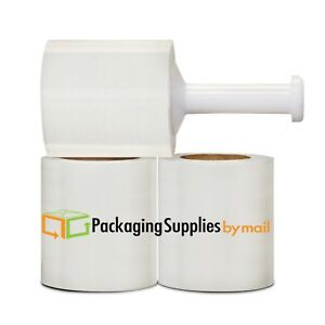 60 Rolls Stretch Shrink Wrap Plastic Banding Hand Film 5 Inch 1500 Feet 80 Gauge