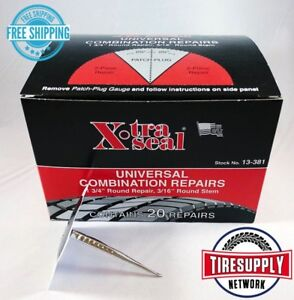 Xtraseal 13 381 Universal Patch Plug Combination Tire Repair 31 Inc Box Of 20