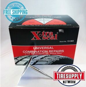 Xtraseal 13 383 Universal Patch Plug Combination Tire Repair 31 Inc Box Of 20