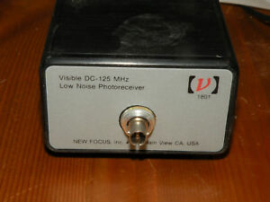 New Focus Newport 1801 Visible Dc 125mhz Low Noise Photoreceiver Guaranteed