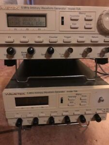 Two Wavetek 75 Arbitrary Waveform Generators Works Great