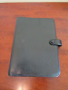 Vintage Filofax Black Leather Planner Organizer